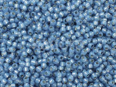 TOHO Round 11o-2102 Silver-Lined Milky Montana Blue - 10 g
