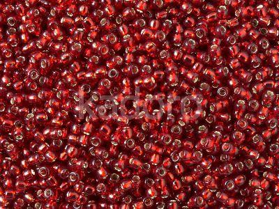 TOHO Round 11o-25C Silver-Lined Ruby - 10 g
