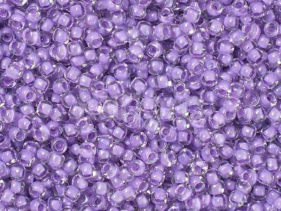 TOHO Round 11o-935 Inside-Color Crystal - Wisteria Lined - 10 g