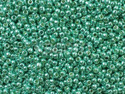 TOHO Round 11o-PF561 Permanent Finish - Galvanized Green Teal - 10 g