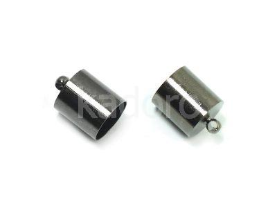 Końcówki do wklejania 13x10 mm czarne - 2 sztuki