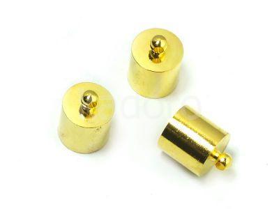 Końcówki do wklejania 14x11 mm złote - 2 sztuki
