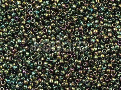 TOHO Round 15o-508 Higher-Metallic Iris Olivine - 5 g