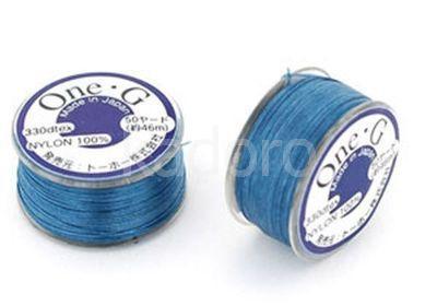 Nici nylonowe Toho One-G Blue - szpulka
