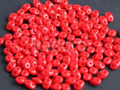 SuperDuo 2.5x5mm Opaque Red - 10 g