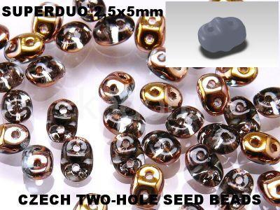 SuperDuo 2.5x5mm Copper - Aqua - 10 g