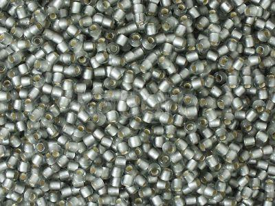 TOHO Round 11o-29AF Silver-Lined Frosted Black Diamond - 100 g