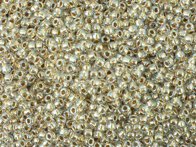 TOHO Round 11o-989 Gold-Lined Crystal - 10 g