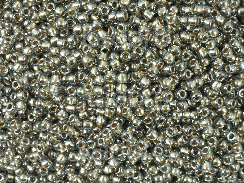 TOHO Round 11o-993 Gold-Lined Black Diamond - 10 g
