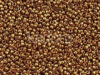TOHO Round 15o-421 Gold-Lustered Transparent Pink - 5 g