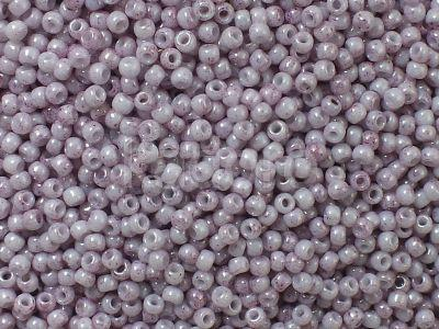 TOHO Round 11o-1200 Marbled Opaque White - Pink - 10 g