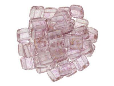 Tile 6mm Luster - Transparent Topaz - Pink - 20 sztuk