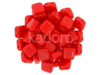 Tile 6mm Opaque Red - 20 sztuk