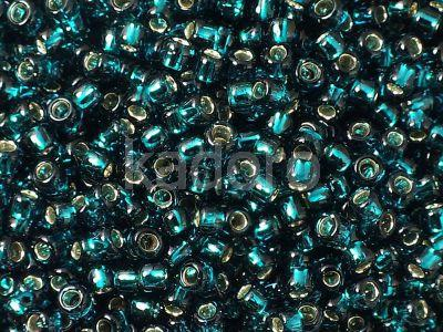 TOHO Round 8o-27BD Silver-Lined Teal - 100 g