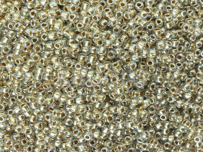 TOHO Round 11o-989 Gold-Lined Crystal - 100 g