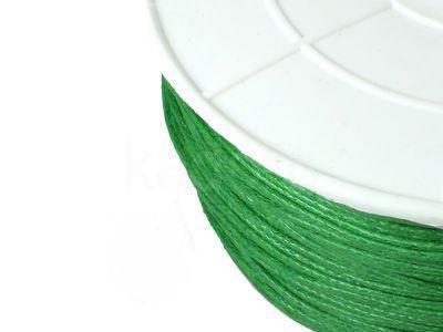 Sznurek woskowany 1 mm zielony II - 3 m