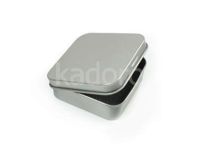 Metalowe pudełko na kolczyki lub wisiorek