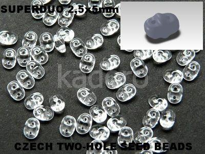 SuperDuo 2.5x5mm Crystal - 10 g