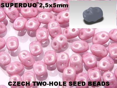 SuperDuo 2.5x5mm Luster - Metallic Lilac - 10 g