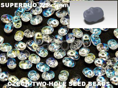 SuperDuo 2.5x5mm Crystal AB - 10 g