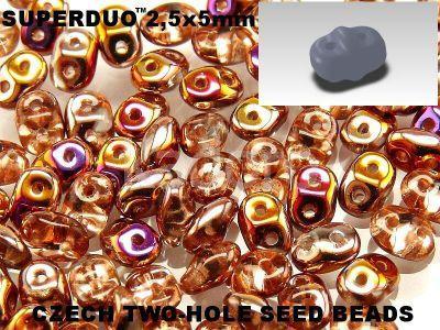 SuperDuo 2.5x5mm Crystal Sliperit - 10 g