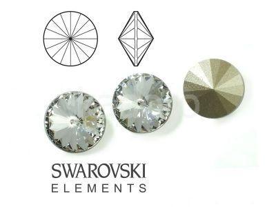 Rivoli Swarovski 12 mm Crystal F - 1 sztuka