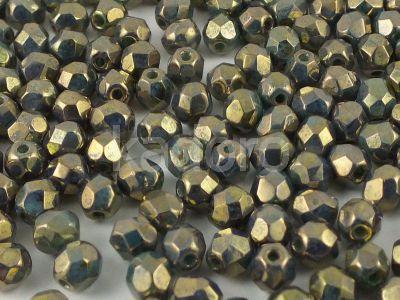 FP 4mm Bronze - Turquoise Picasso - 40 sztuk