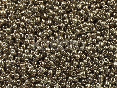 TOHO Round 11o-204 Gold-Lustered Montana Blue - 10 g