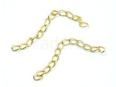 Łańcuszek wykończeniowy w kolorze złotym - 2 sztuki