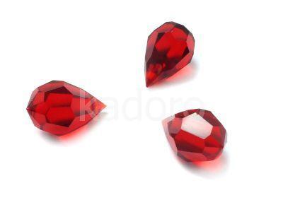 Drop 10x6mm Siam Ruby - 1 sztuka