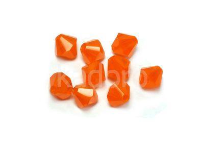 Bicone 4mm Milky Orange - 6 sztuk