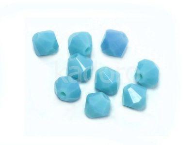 Bicone 4mm Blue Turquoise - 6 sztuk