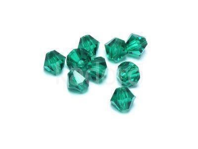 Bicone 4mm Emerald - 6 sztuk