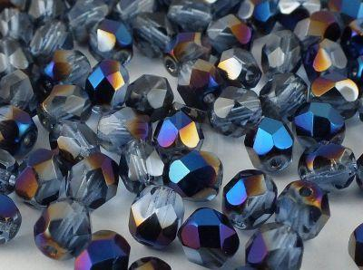 FP 6mm Blue Iris - Sapphire - 20 sztuk