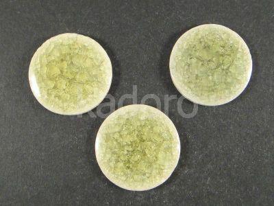Kaboszon ceramiczny cracle oliwkowy 23 mm - 1 sztuka