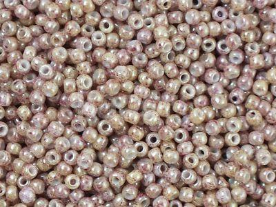 TOHO Round 11o-1201 Marbled Opaque Beige - Pink - 10 g