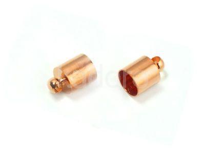 Końcówki do wklejania 12x7 mm miedziane - 2 sztuki
