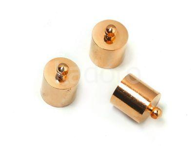 Końcówki do wklejania 13x9 mm miedziane - 2 sztuki