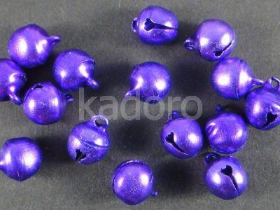 Zawieszka dzwonek w kolorze fioletowym - 4 sztuki