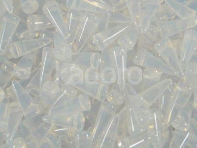 Spike Beads Milky White 13x5 mm - 10 sztuk