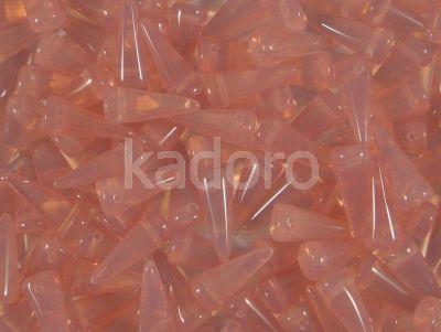 Spike Beads Milky Pink 13x5 mm - 10 sztuk