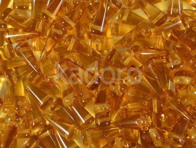 Spike Beads Topaz 13x5 mm - 10 sztuk