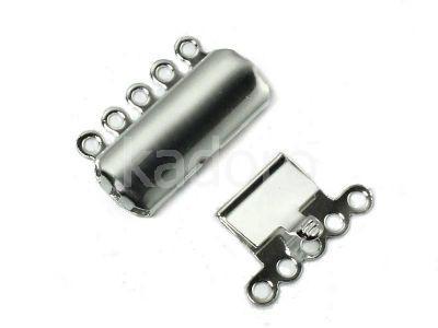 Zapięcie szufladowe gunmetal prostokątne 19x14 mm - 1 sztuka