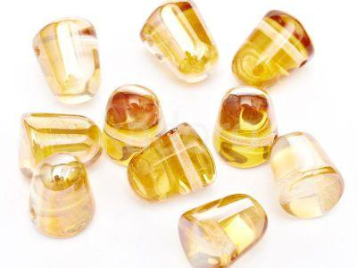 Gumdrop Beads Crystal Apricot Medium 10x7 mm - 10 sztuk