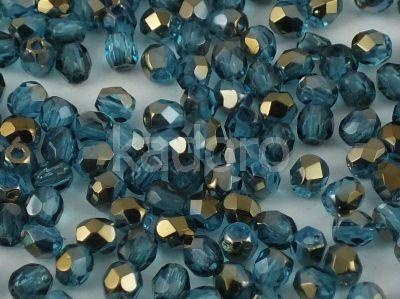 FP 3mm Bronze Iris Dark Aquamarine - 40 sztuk