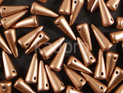 Spike Beads Matte Metallic Copper 13x5 mm - 10 sztuk