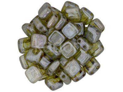 Tile 6mm Luster - Transparent Green - 20 sztuk