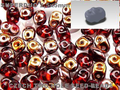 SuperDuo 2.5x5mm Copper - Siam Ruby - 10 g