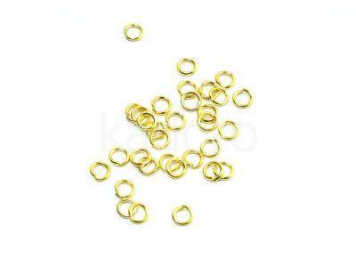 Ogniwko 4 mm w kolorze złotym - 5 g