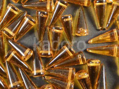 Spike Beads Topaz 17x7 mm - 10 sztuk